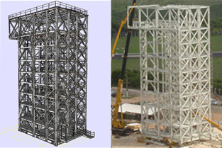 3D Project Assembly of the tower